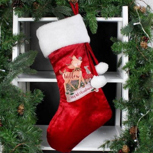 Festive Fawn Luxury Stocking